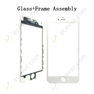 White Front Glass Lens with Frame Bezel for iPhone 6S