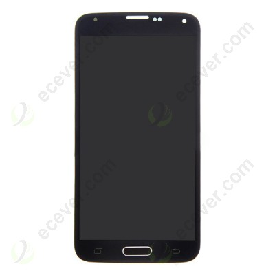 Front LCD Screen with Home Button Complete Assembly for Samsung Galaxy S5 Black