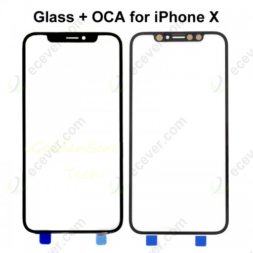 Front Glass with OCA for iPhone X