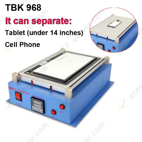 iPad Tablet LCD Screen Glass Separator Machine with Vacuum Pump TBK 968