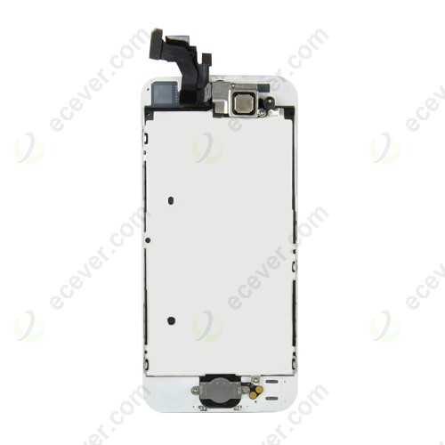 Full Front LCD Screen with Home Button and Parts for iPhone 5 White
