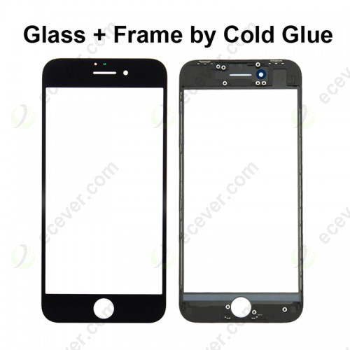 Refurbish Glass with Frame for iPhone 8 Black