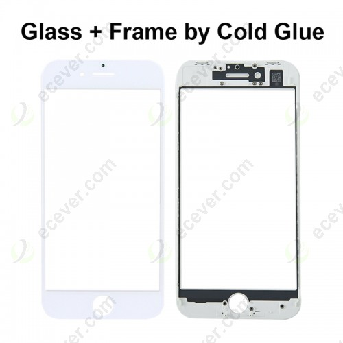 Replacement for iPhone 8 Glass Lens with Front LCD Screen Bezel Frame