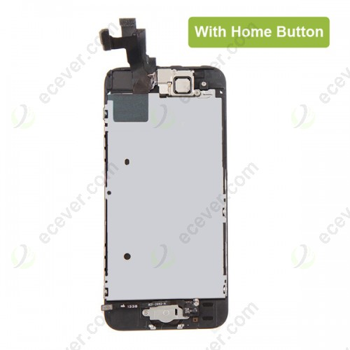 Replacement Full Front LCD Screen Digitizer for iPhone 5S Black with Home Button and Small Parts