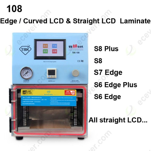 TBK 108 Edge Curved and Flat Straight LCD Screen OCA Laminate Machine Vacuum