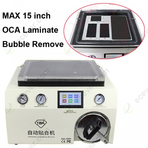 TBK 408A Transparent Cover OCA Laminate Bubble Remove Machine 15 inch