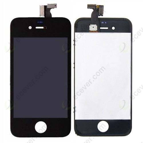 Black For iPhone 4 LCD Screen Digitizer Touch Assembly