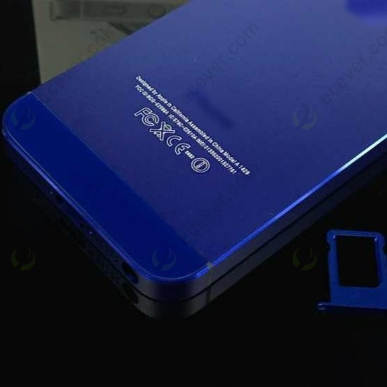 Iphone 5s Blue Back For iphone 5 back housing middle plate dark blue