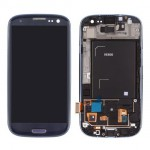 LCD Screen Digitizer Assembly With Front Frame Pebble Blue for Samsung Galaxy S3 i9300
