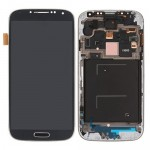 LCD Screen Digitizer Assembly with Front Frame Housing for Samsung Galaxy S4 i9500 Black