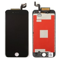 (Assembled Flex) LCD Screen Touch Digitizer Assembly for iPhone 6S Black - Cold Press