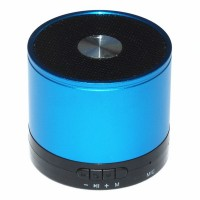 Cylinder Aluminium Alloy TF Card Bluetooth Stereo Speaker