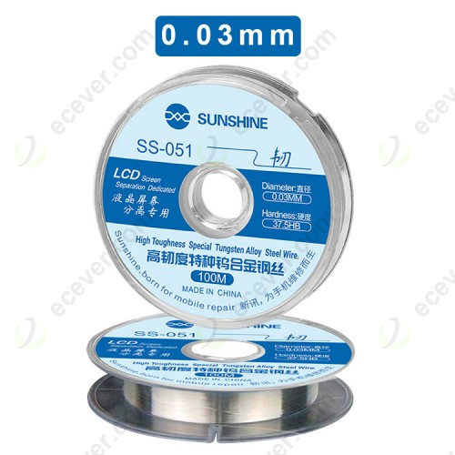 Sunshine SS-051 0.03mm 100m LCD OLED separate wire For iphone For samsung screen glass separate