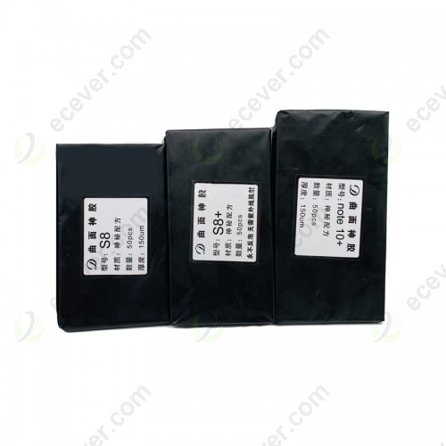 150um hybrid OCA glue foil for Samsung Galaxy Note 8 9 Note 10 S20 S20+ Ultra S10 S9 S8