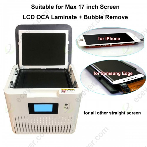 17 inch OCA LCD Laminator Bubble Remove Machine