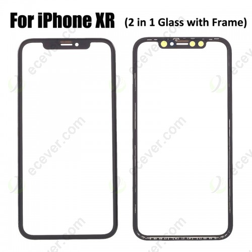 2 in 1 iPhone XR Glass with Frame Bezel