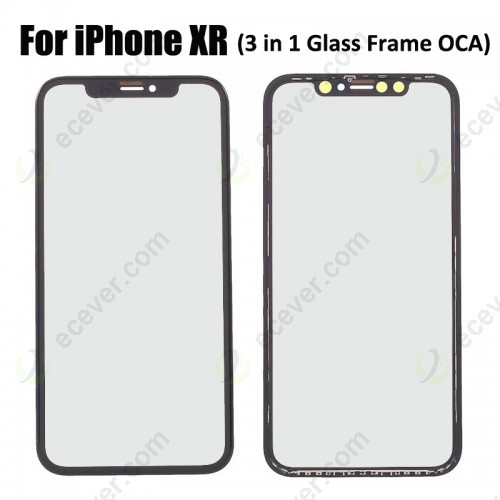 3 in 1 iPhone XR Glass with Frame OCA Glue