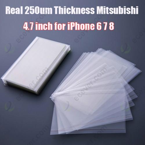 250um 4.7 inch OCA Foil for iPhone 6 7 8