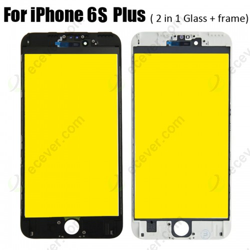 2 in 1 Glass with Frame for iPhone 6S Plus Yellow Film
