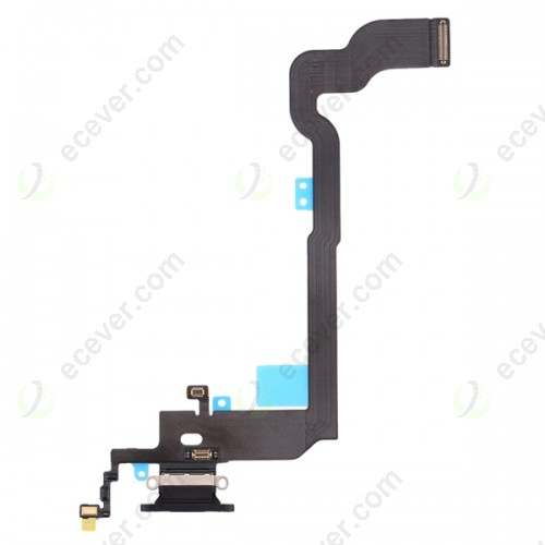 Charging port flex cable for iPhone X Black