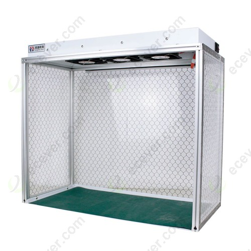 Clean Room Dust Free Work Station Mini Dust free Room Bench with Anti-static Curtains