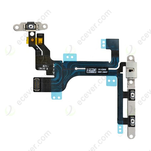Power Button Control Flex Cable Metal Bracket for iPhone 5C