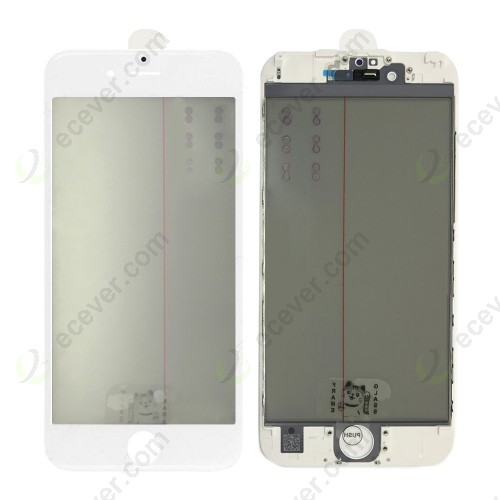 Front Glass iPhone 6S 4 IN 1 OCA Polarizer white