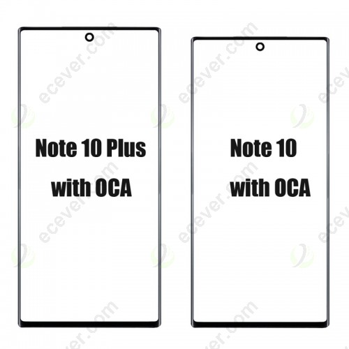 Replacement Front Glass Screen Lens with T OCA for Samsung Galaxy Note 10 and 10 Plus