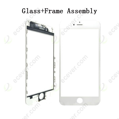Front Glass Outer Lens with Frame Bezel for iPhone 6 Plus White