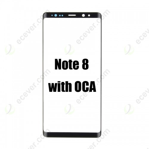 Front Glass Glass with T-OCA for Samsung Galaxy Note 8 OLED Screen Repair