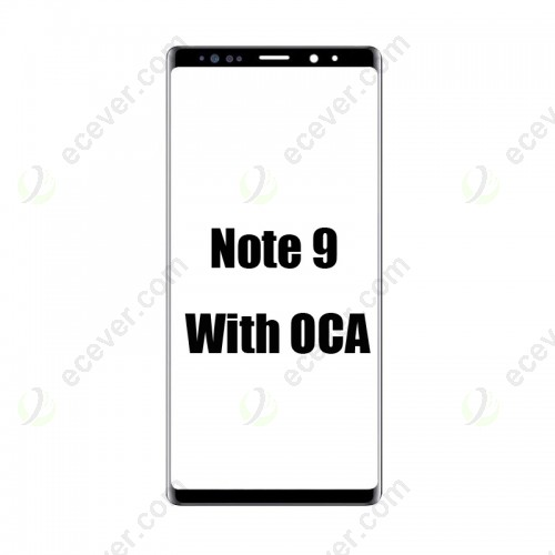 Front Outer Glass with OCA Film Replacement For Samsung Galaxy Note 9