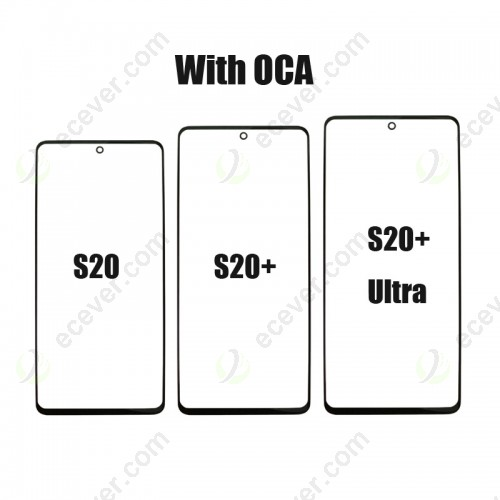 Glass with T OCA for Samsung Galaxy S20 S20 Plus and S20 Ultra