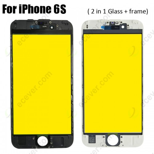 Glass Lens with Bezel Frame for iPhone 6S Cold Glue