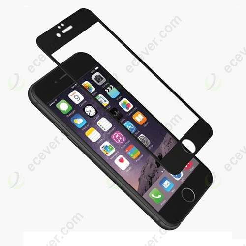 3D Curved Edge Coated Tempered Glass for iPhone 6 Plus Black
