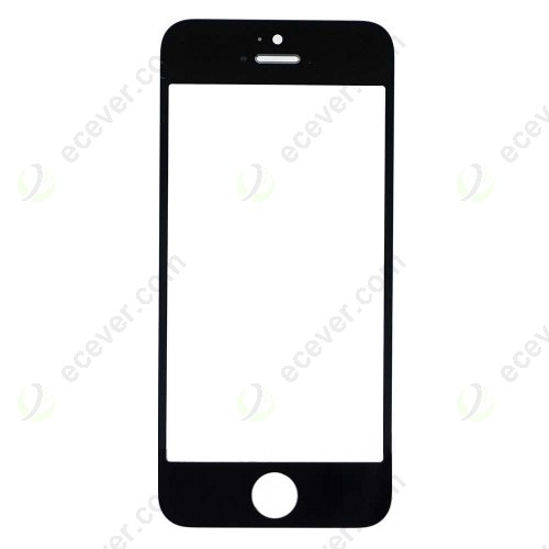 Black for iPhone 5S Front Outer Glass Lens Cover