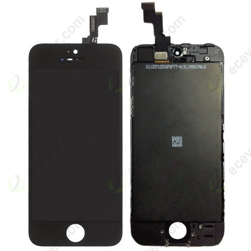 iPhone 5S Front LCD Screen Touch Digitizer Complete Assembly black