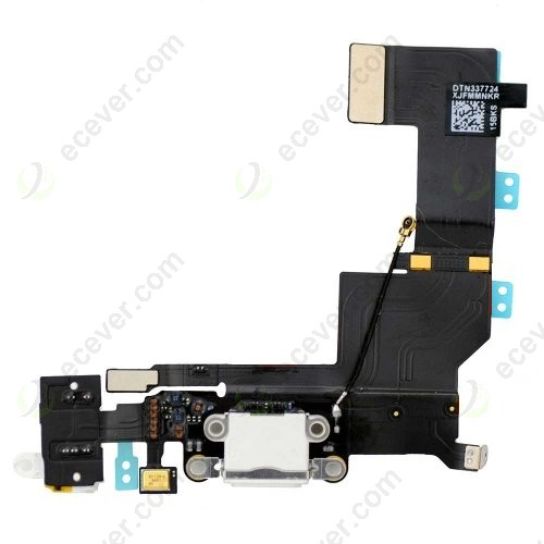 OEM iPhone 5S Headphone Jack Dock Connector Flex Cable White