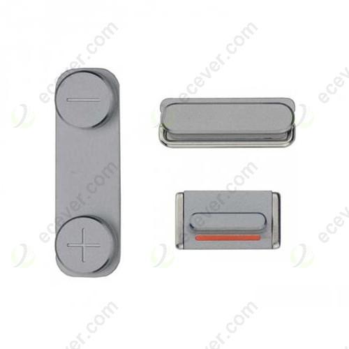 OEM iPhone 5S/SE Side Buttons Keys Gray