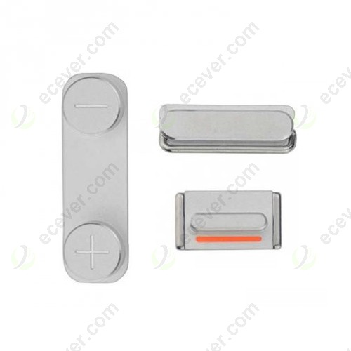 OEM iPhone 5S Side Buttons Keys Silve White