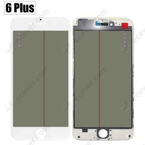 iPhone 6 + Plus 4 IN 1 Glass with OCA Polarizing Film Frame Lens