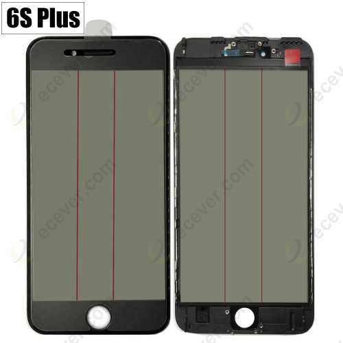 iPhone 6S+ Plus 4 in 1 Glass Frame OCA Glue Polarizer Original