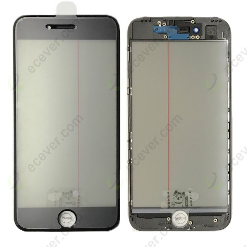 iPhone 7 Glass with Frame OCA Polarizer 4 in 1 Black