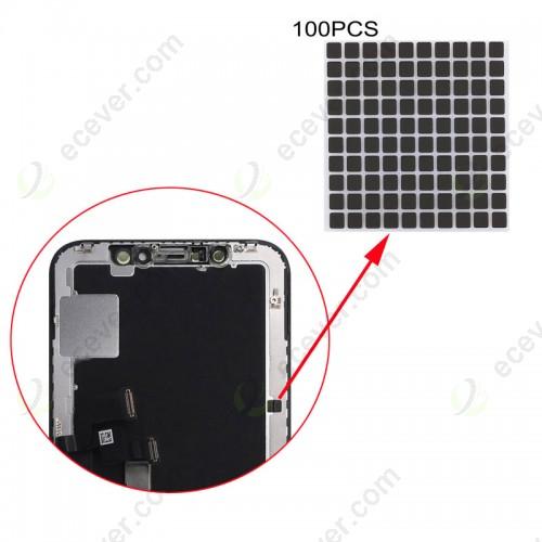 100 PCS Display Screen Black Stickers for iPhone X XS XS MAX