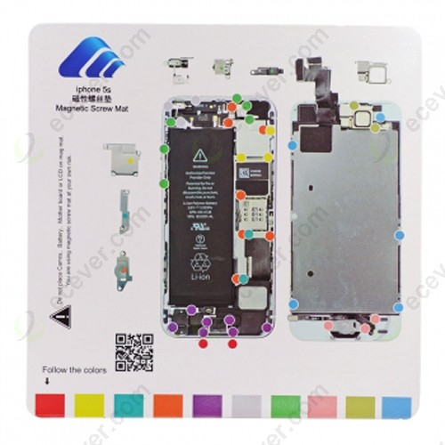 Magnetic Screw Mat Chart for iPhone 5S