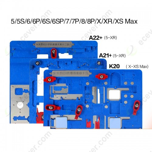 MJ A21+ A22+ K20 PCB Motherboard Holder Fixture For iPhone X/XS max/XR/5S/6G/5P/6S/6SP/7/7P/8/8P Micro Soldering Repair Station Tool