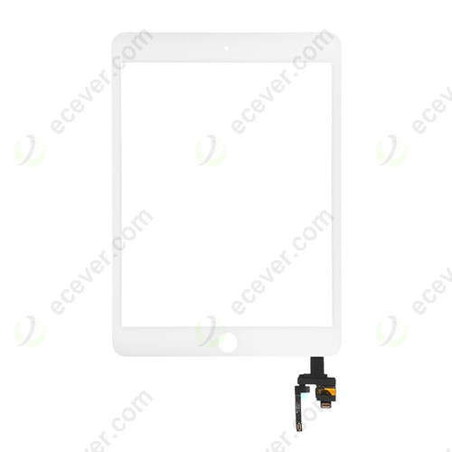 For iPad Mini 3 Touch Screen Digitizer  with IC Connector White