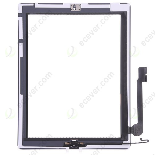 OEM for iPad 4 Full Front digitizer touch screen Assembly Replacement White