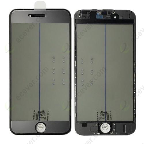 Original 4 in 1 iPhone 6 Glass Frame OCA Polarizer Film Black