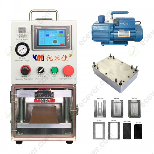 7 inch YMJ Portable OCA LCD Vacuum Bonding Laminator Machine For iphone for samsung Edge LCD Lamination Refurbish