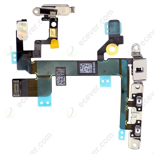 Power Button  Flex Cable with Metal Bracket for iPhone 5S